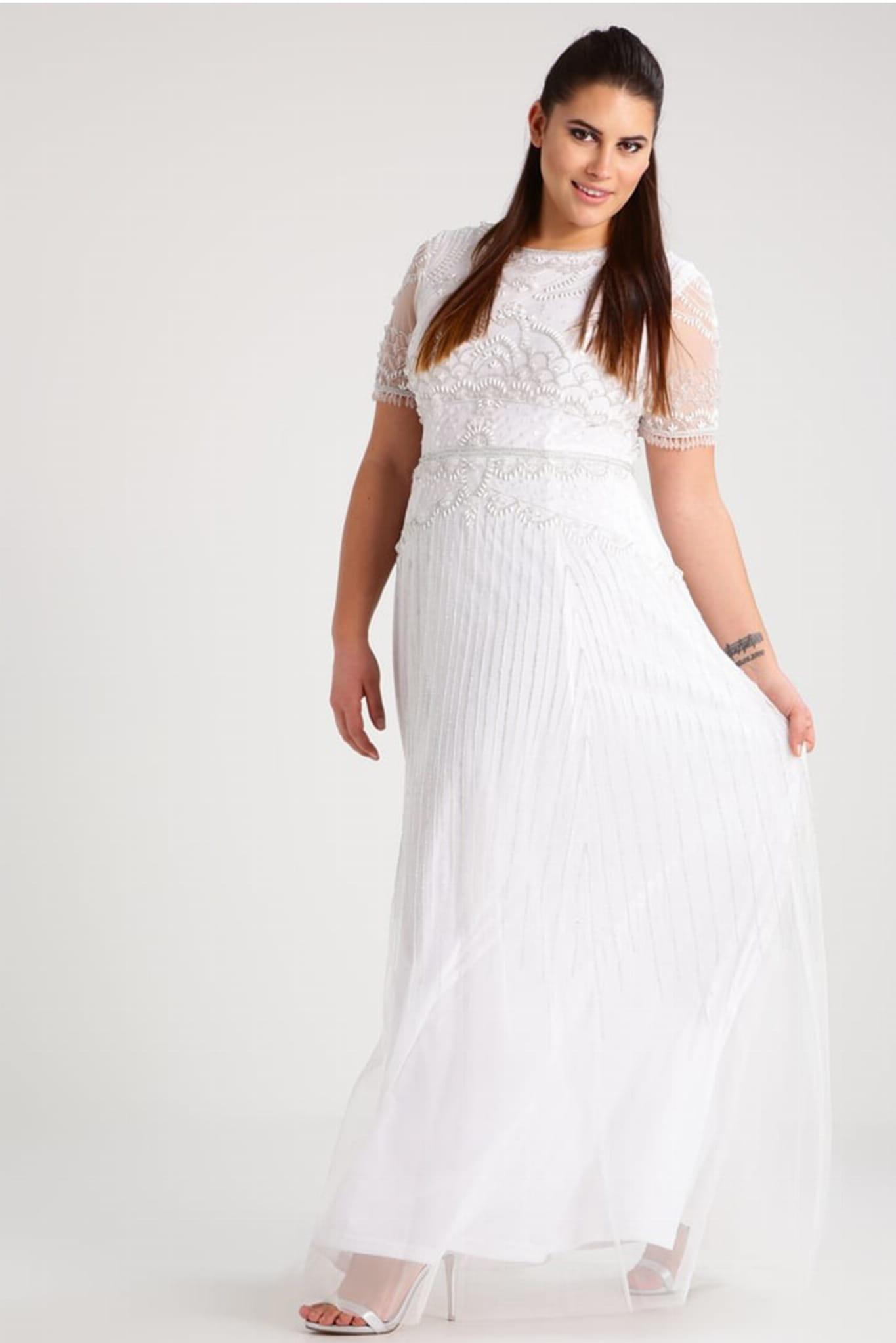 0b3e6961ac 091892370 Sukienka wieczorowa biała - Navona