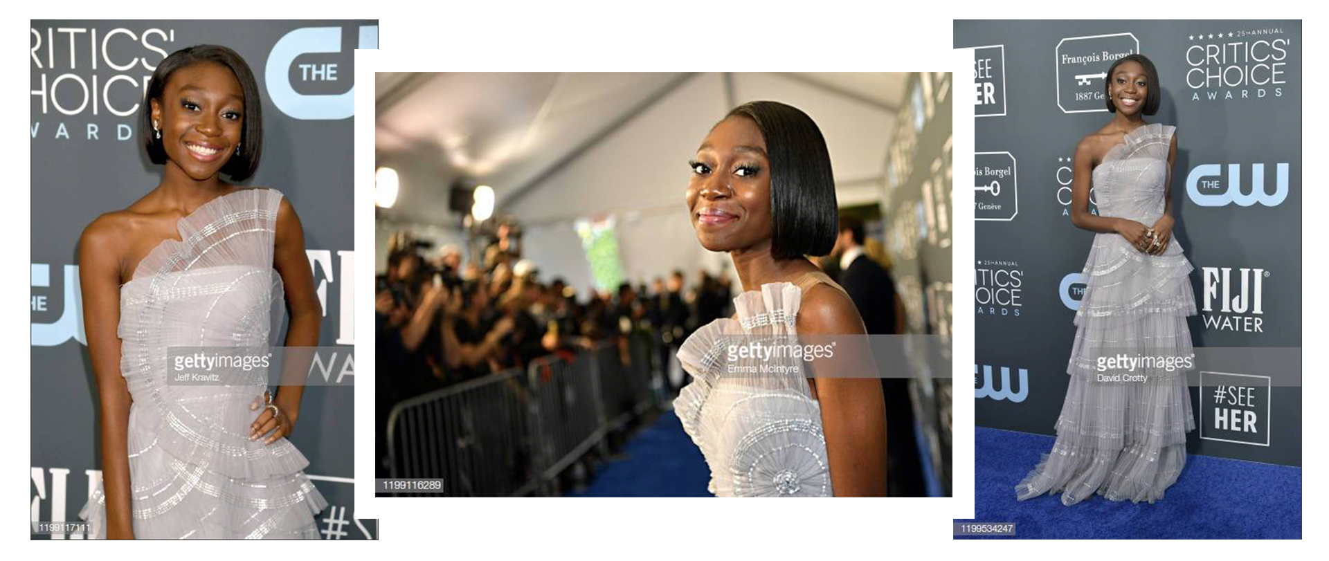 Shahadi Wright Joseph x Tadashi Shoji x 25th Annual Critics' Choice Awards